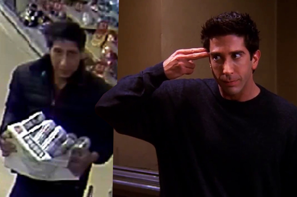 A Ross Geller Lookalike Was Caught On Camera Shoplifting, 'Friends' Fans Go Crazy