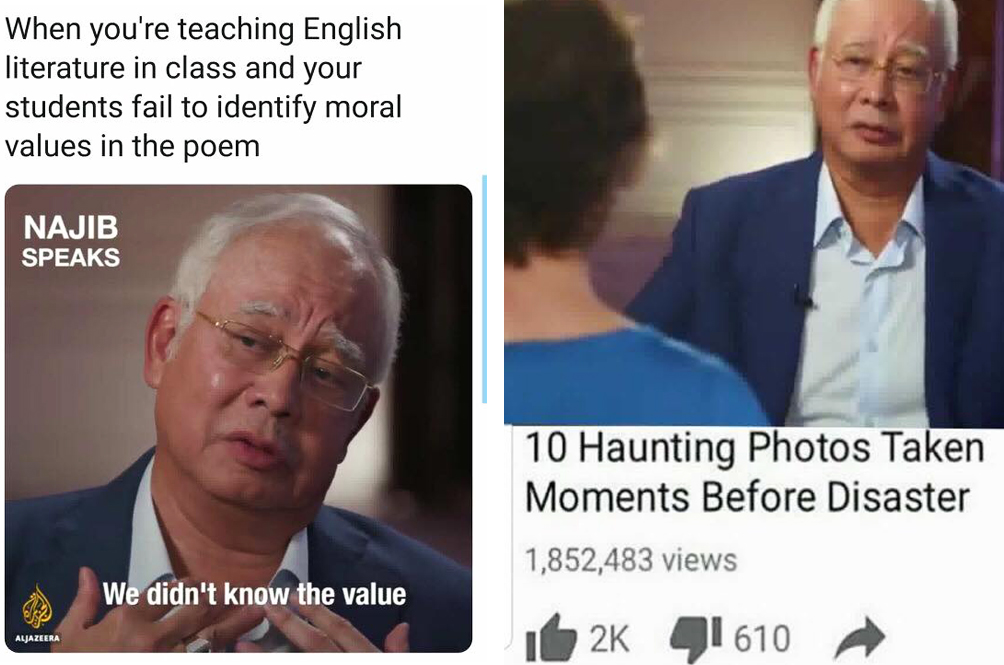 Malaysian Netizens Turn Former PM Najib Into A Meme After Al Jazeera Drama