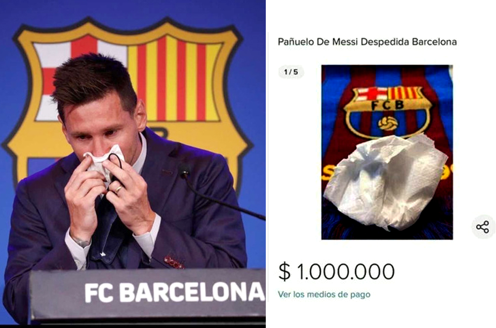 Man Tries To Sell Tear-Soaked Tissue Paper Used By Footballer Lionel Messi For RM4 Million