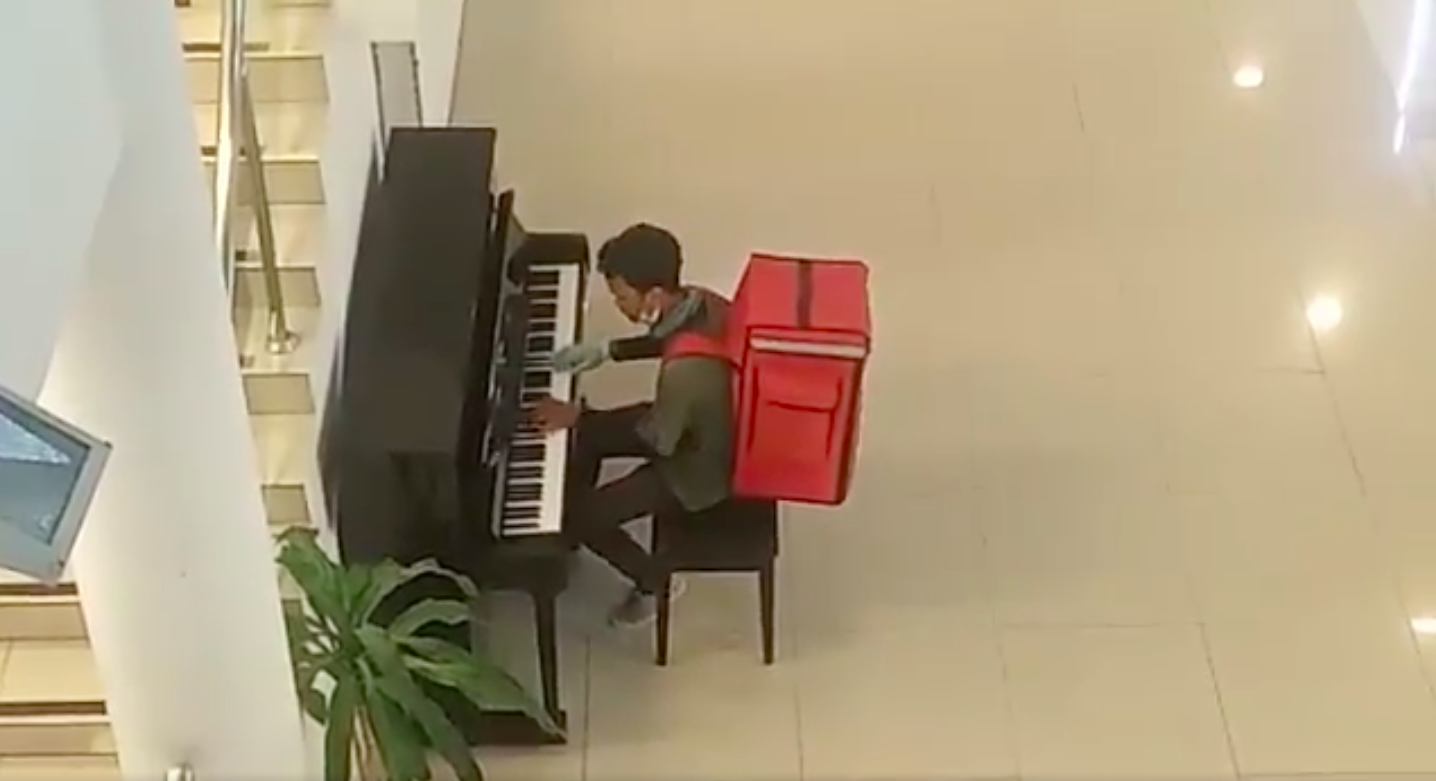 But first, piano.