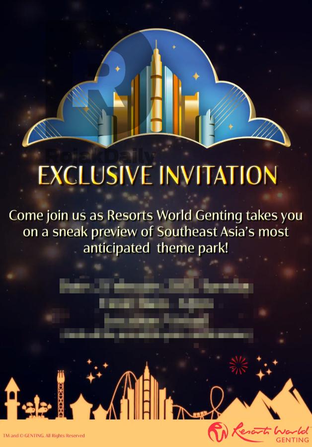 A copy of the media invitation.