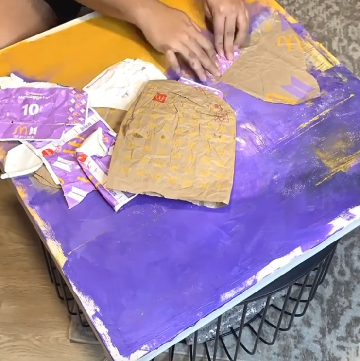 Turning packaging into artwork.