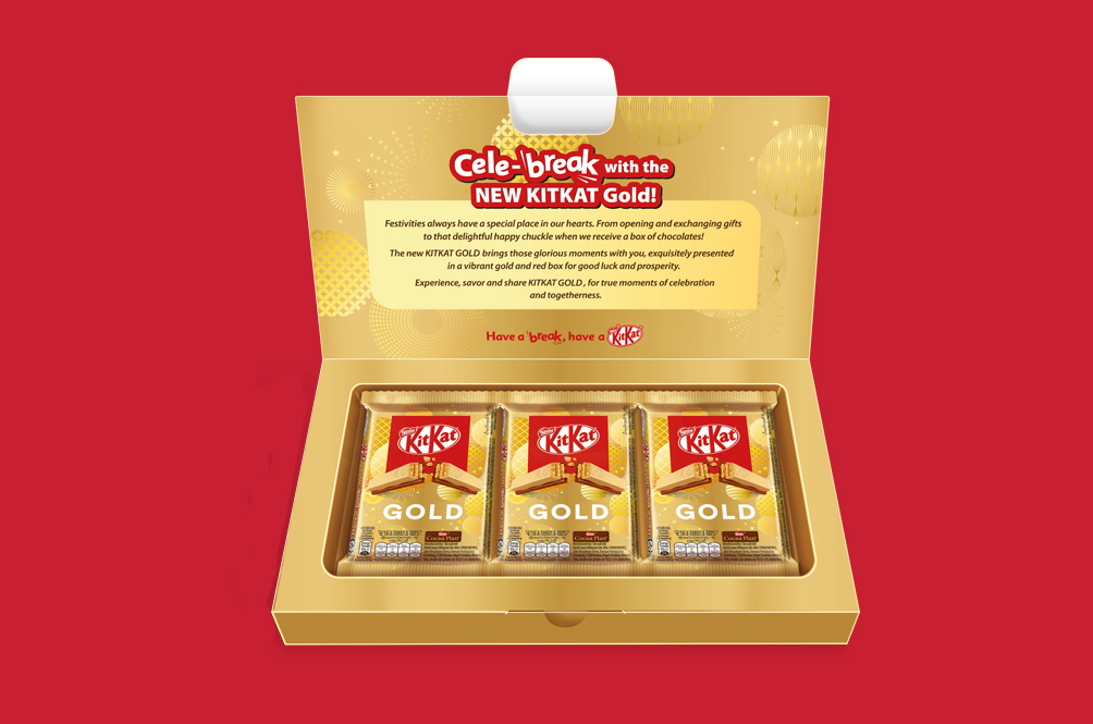 KitKat Celebrates The Upcoming Chinese New Year With A Gold Bar. No, Seriously!