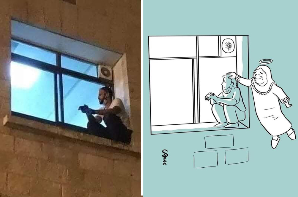 Man Waits On Hospital Ledge Every Day To Check On Mom With COVID-19 Until She Passes Away