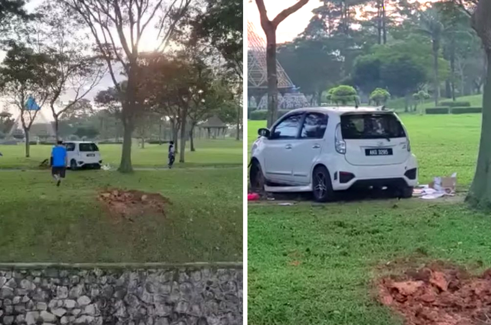 'Sound Effect Terbang': Netizens Perplexed By The Curious Case Of The 'Flying Myvi' In Johor
