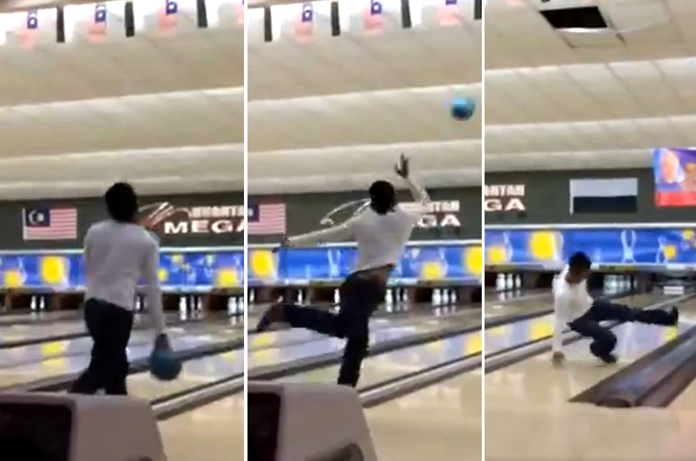 Kuantan Man's Hilarious Bowling Attempt Blows Up Twittersphere