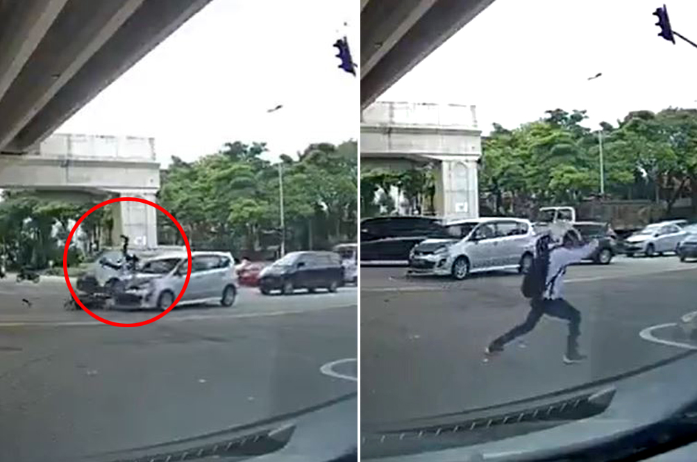Malaysian Motorcyclist Survives Horrific Crash, Celebrates By Busting Out Silat Moves