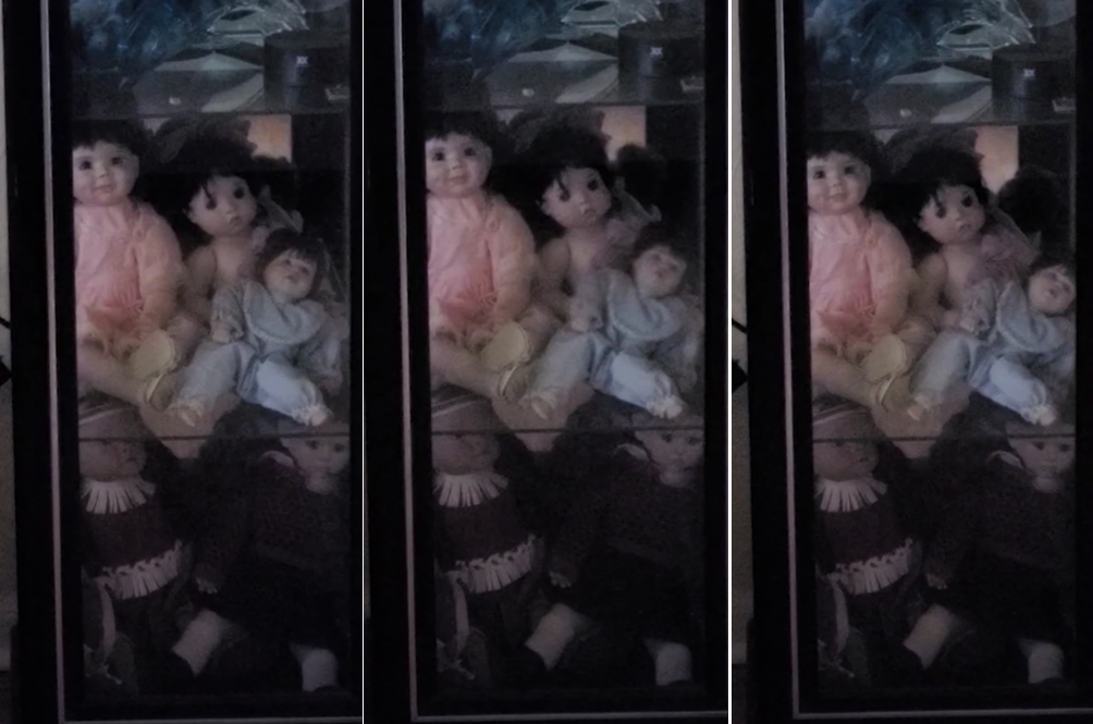 [VIDEO] Man Films Wife's 'Haunted' Dolls Moving By Themselves In Glass Cabinet