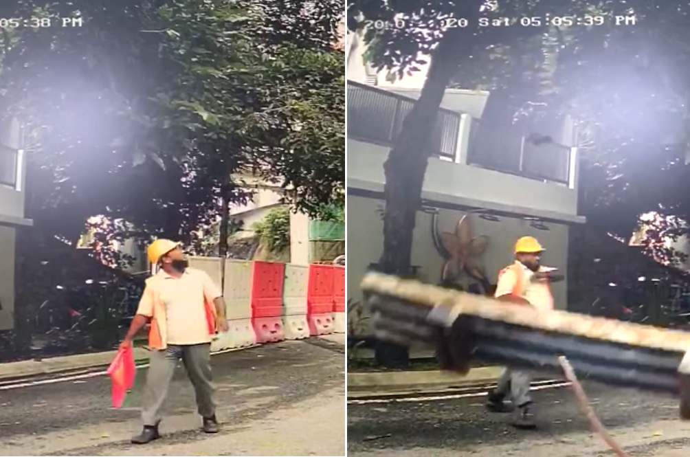 [VIDEO] Worker Narrowly Escapes With His Life When Steel Beam Comes Crashing Down