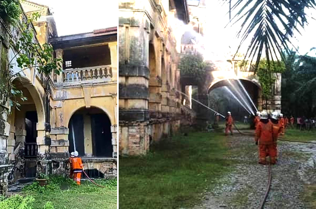 200-Year-Old Bungalow In Penang, Rumoured To Be Haunted, Mysteriously Catches Fire