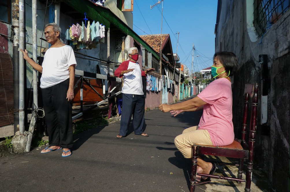 Indonesians Are Trying To Get Rid Of The Coronavirus...By Soaking Up Sun Rays!