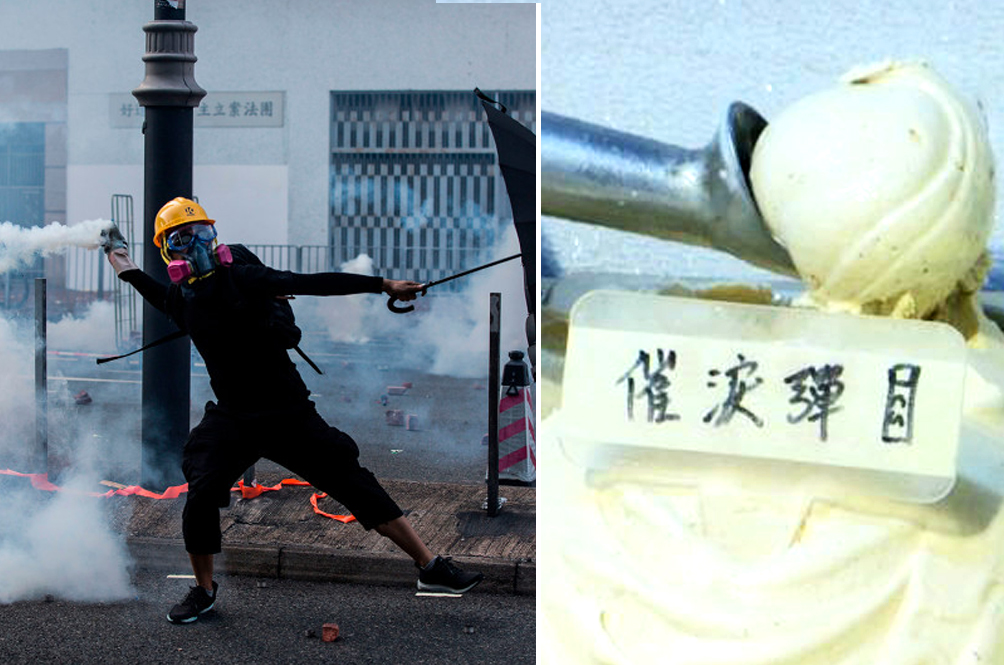 An Ice Cream Parlour In Hong Kong Is Selling Tear Gas-Flavoured Ice Cream