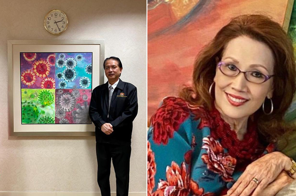 Dr Noor Hisham Receives Stunning Painting Titled 'Deceptive Beauty' From His Friend