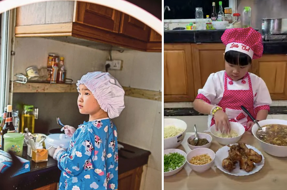 8-Year-Old Cutie Pie From Myanmar Wins Over Netizens With Her Cooking Skills