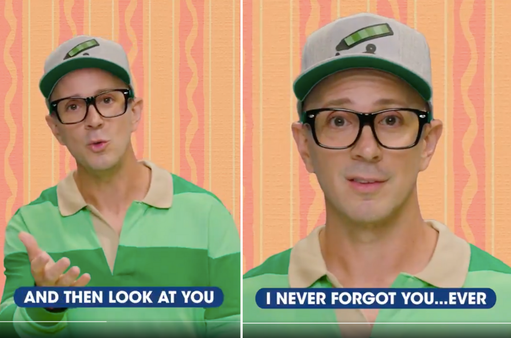 Ex-'Blue's Clues' Host Returns For A Touching Video We Didn't Ask For, But One We Certainly Needed