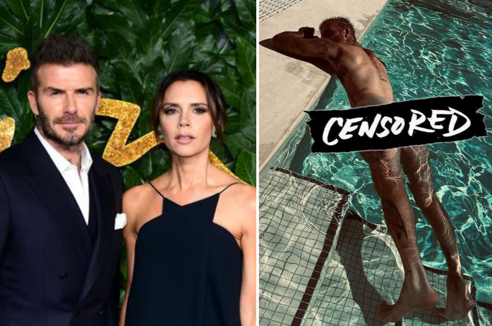 Victoria Beckham Shares A Photo Of Her Husband David's Butt, Thankful Fans Are Thankful