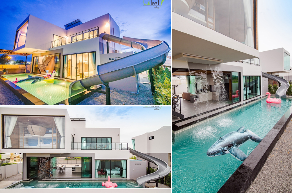 [PHOTOS] This Two-Storey Villa In Hua Hin With A Built-In Water Slide Is The Perfect Party House