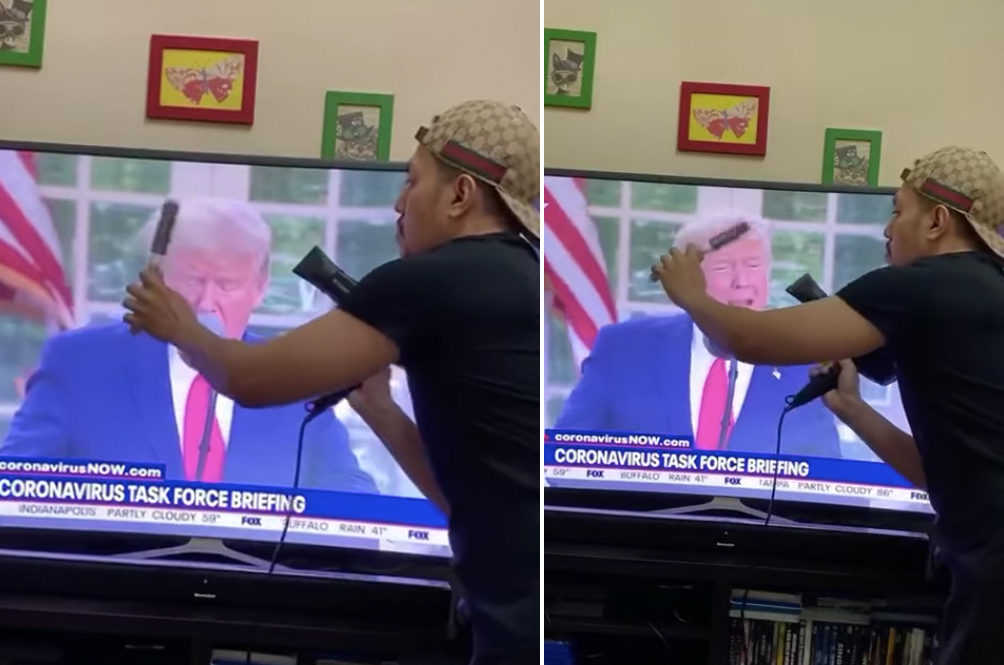 Malaysian Becomes Internet Sensation For 'Blow-Drying' Donald Trump's Hair On TV