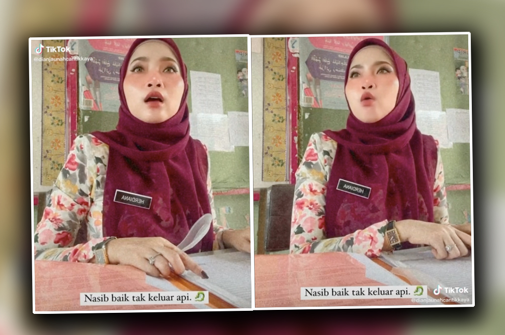 [VIDEO] Teacher Goes From Sweet To 'Garang' In A Split Second, Becomes Internet Sensation