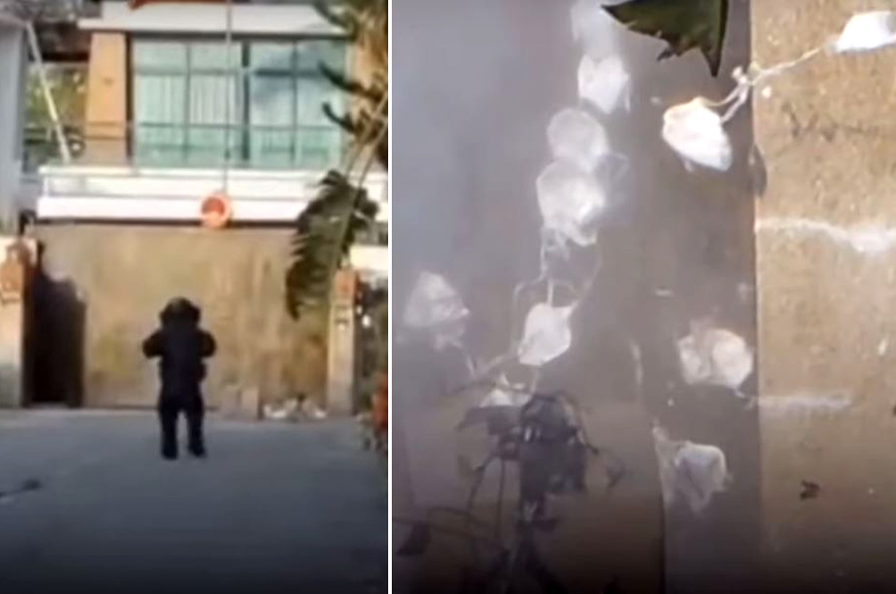 Police Blows Up Three Boxes Outside Chinese Consulate In Penang, Turns Out To Be Face Masks