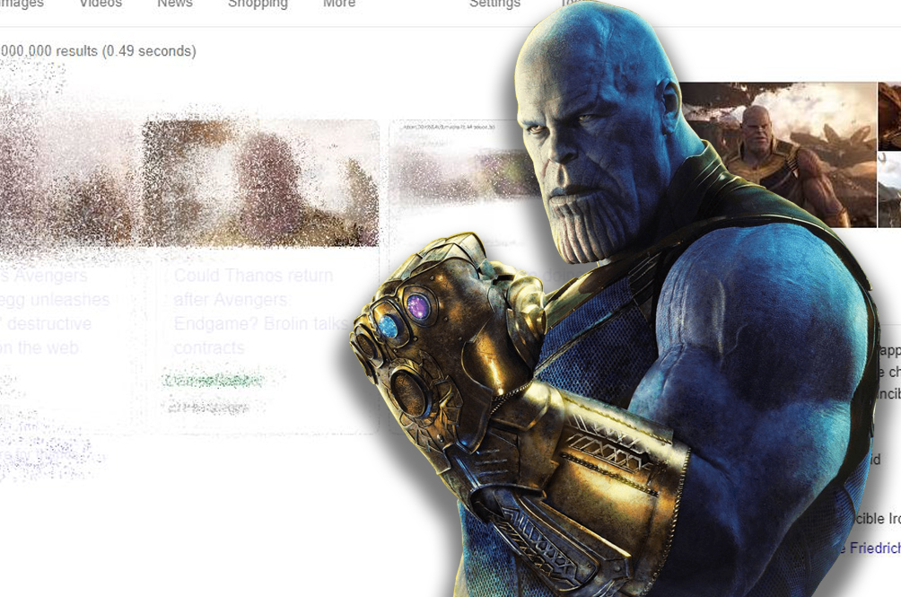 Watch Thanos Destroy Your Web Browser With This Cool Google Easter Egg