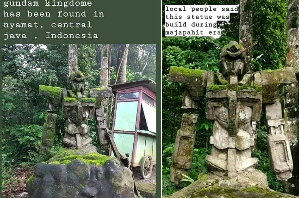 A 'Gundam'-Like Statue Was Found In Indonesia And Yes, They've Already Claimed It