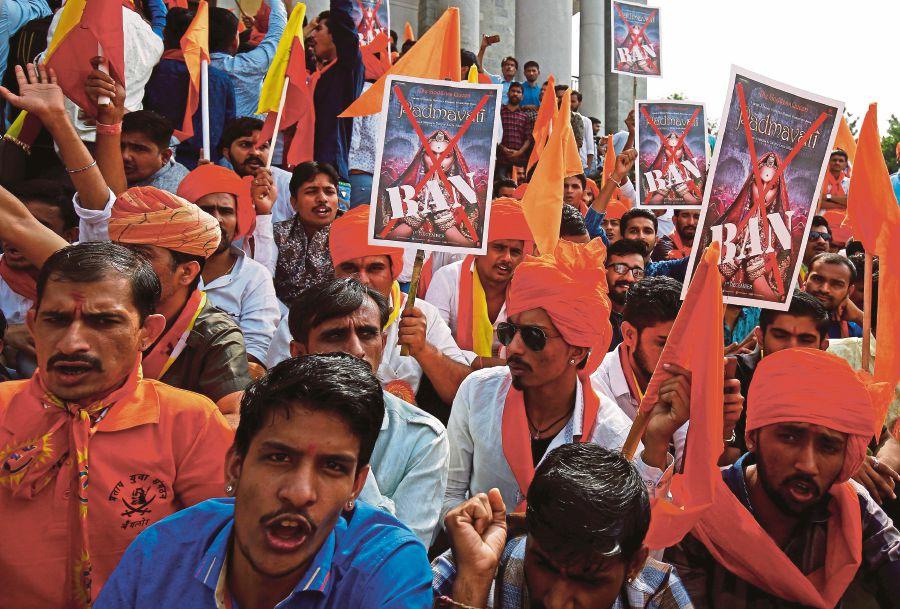 Demonstrasi jalanan di India.