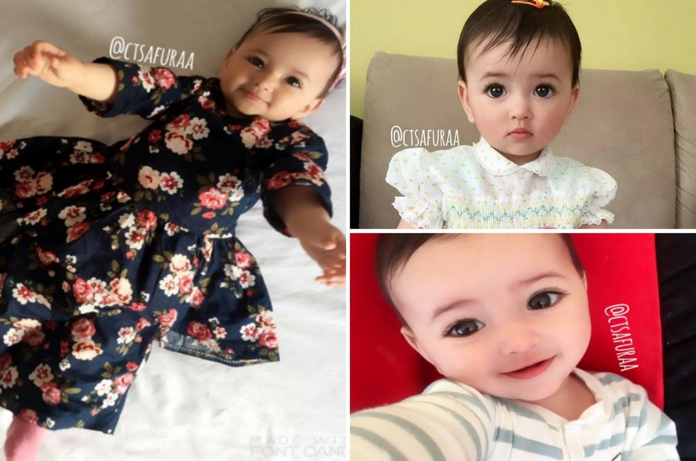 Dhuhaa Sophea, Bayi Cantik Kacukan Malaysia Rusia Sambut Aidilfitri Di Sweden