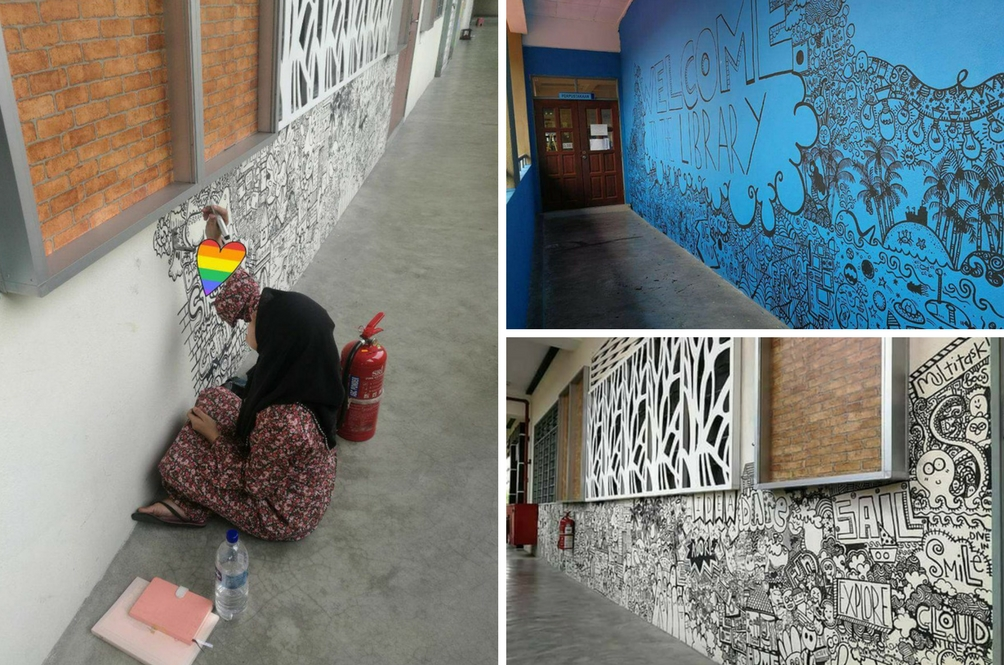 Selepas Karya Doodle Tular, Guru Ini Idam Lukis Doodle Di Tiang LRT