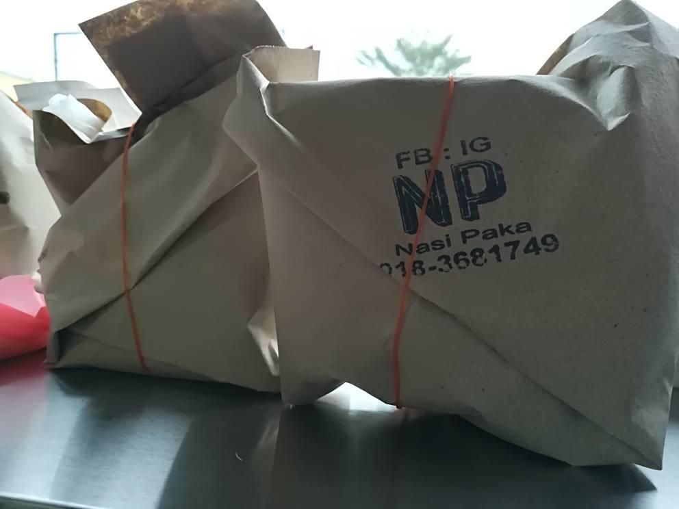 Nasi bungkus yang ringkas, sedap dan murah.