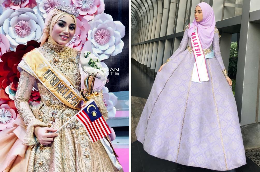 Gadis Malaysia Juara Pertandingan Puteri Muslimah Asia 2018