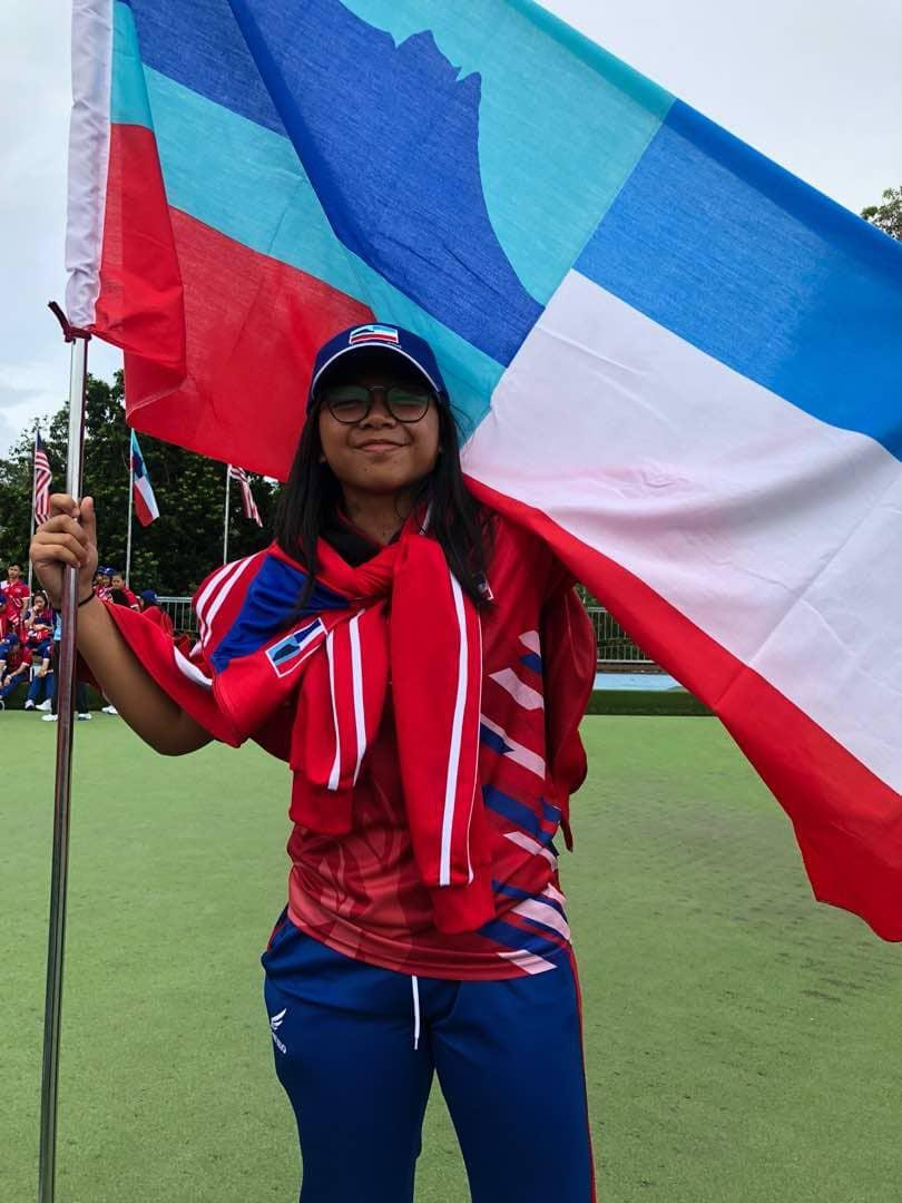 Pemain ragbi wanita Sabah.