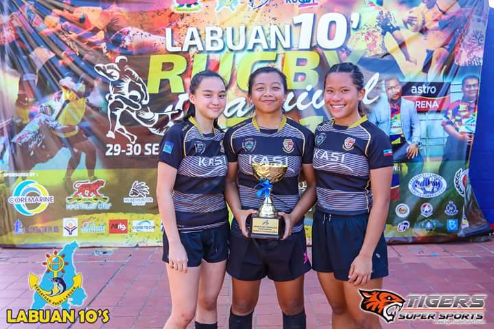 Skuad ragbi wanita Sabah.