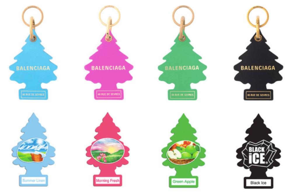 Jual Rantai Kunci Berbentuk Pokok, Little Trees Saman Balenciaga