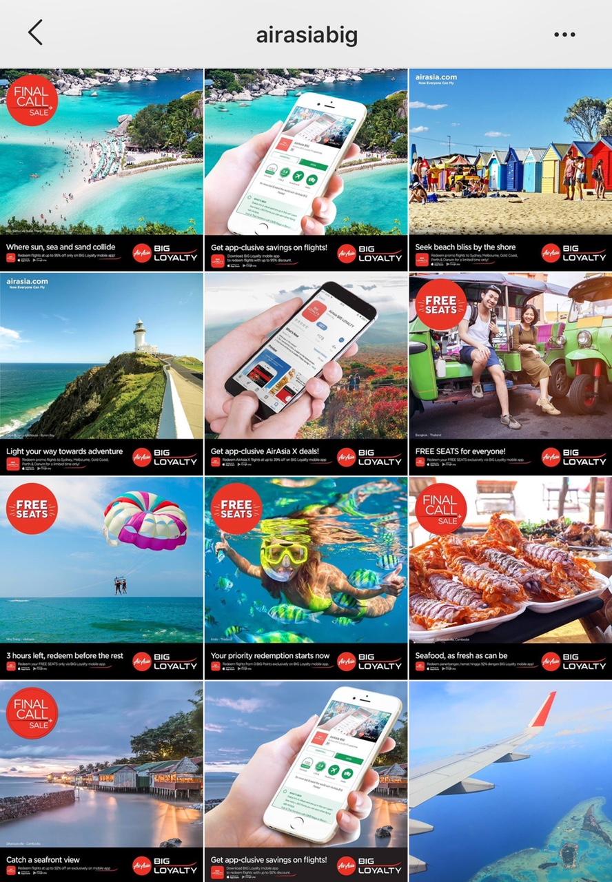 Follow AirAsia dan AirAsia BIG.
