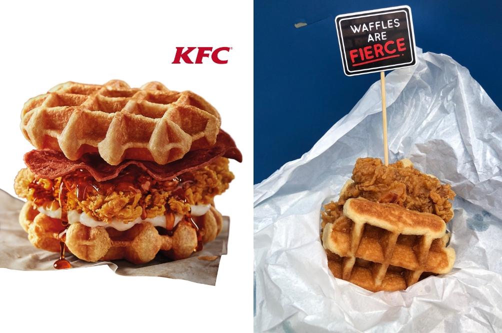 Filet Ayam Diapit Belgian Waffle? Wow, Yakinnya KFC!