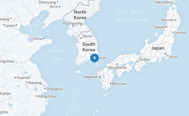 Peta Busan.