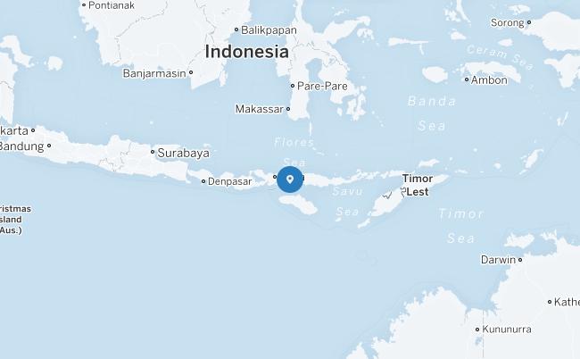 Peta Komodo Island.