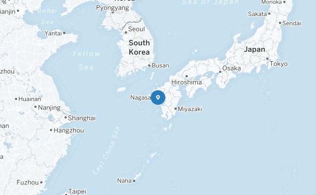 Peta Nagasaki.