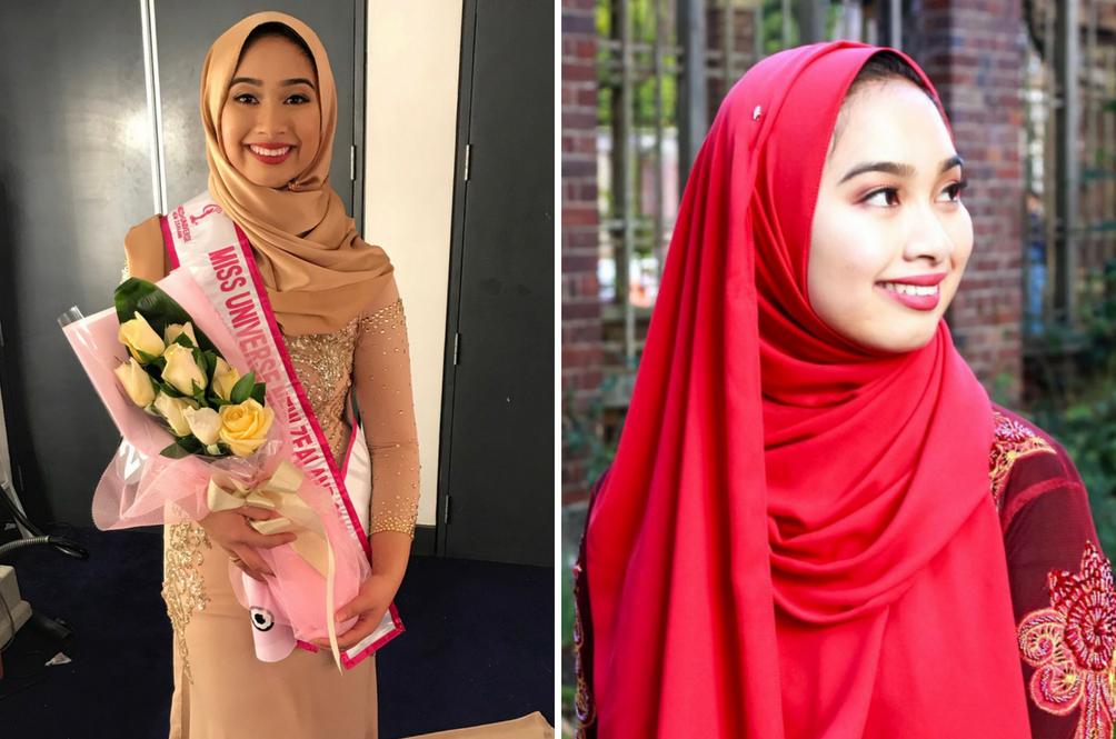 Hijab Bukan Penghalang - Gadis Malaysia Menang Tempat Kelima Miss Universe New Zealand