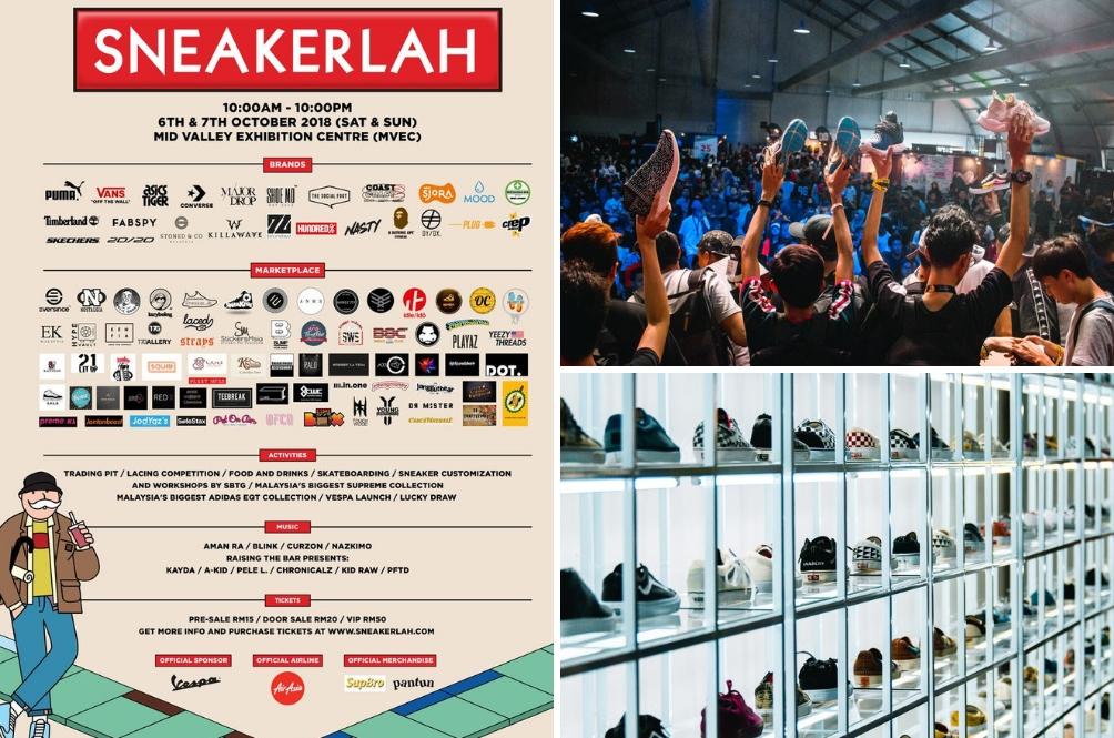 Kaki Sneakers Wajib Datang 'Sneakerlah' Hujung Minggu Ini