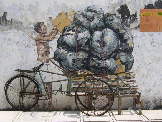 Salah satu mural di Pekan Lama