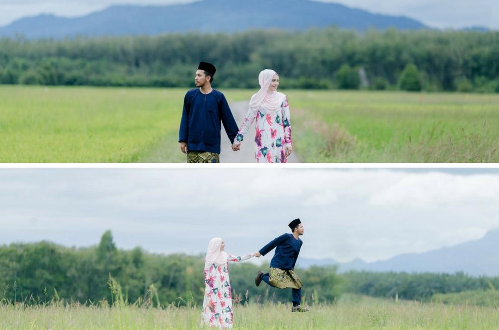 Akibat Orang Buat Pelamin Sakit, Pasangan Ini Berkahwin Dengan Pelamin Halaman Rumah