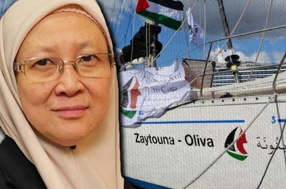 Kapal Zaytouna-Oliva Yang Membawa Dr Fauziah Hasan Ditawan Tentera Israel