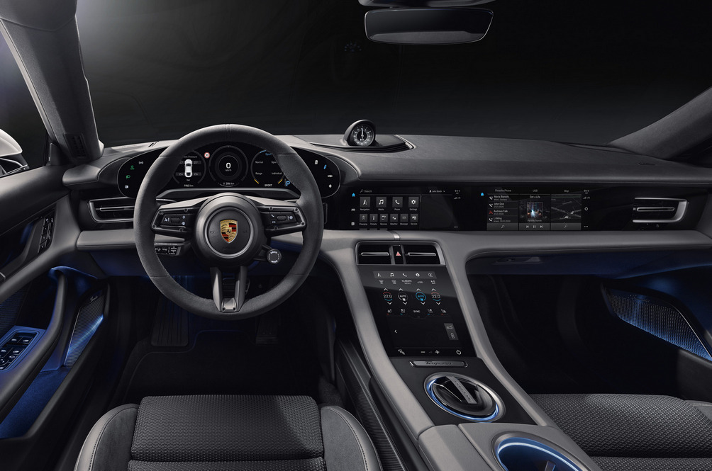 The Porsche Taycan Has So Many Screens Even The Passenger Gets One