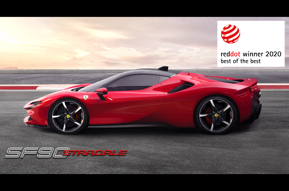 Ferrari Scores A Hattrick At The Red Dot Award 2020