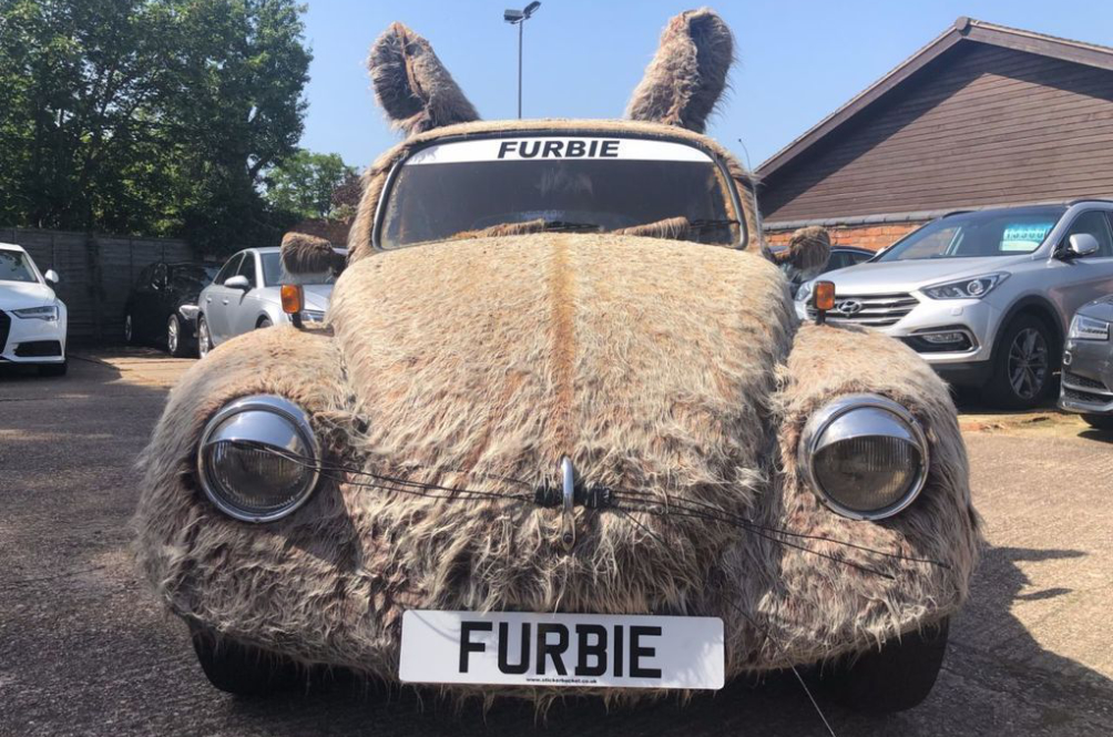 This Furry Volkswagen Beetle Might Not Make One's Hair Stand, But Will Definitely Raise Some Eyebrows