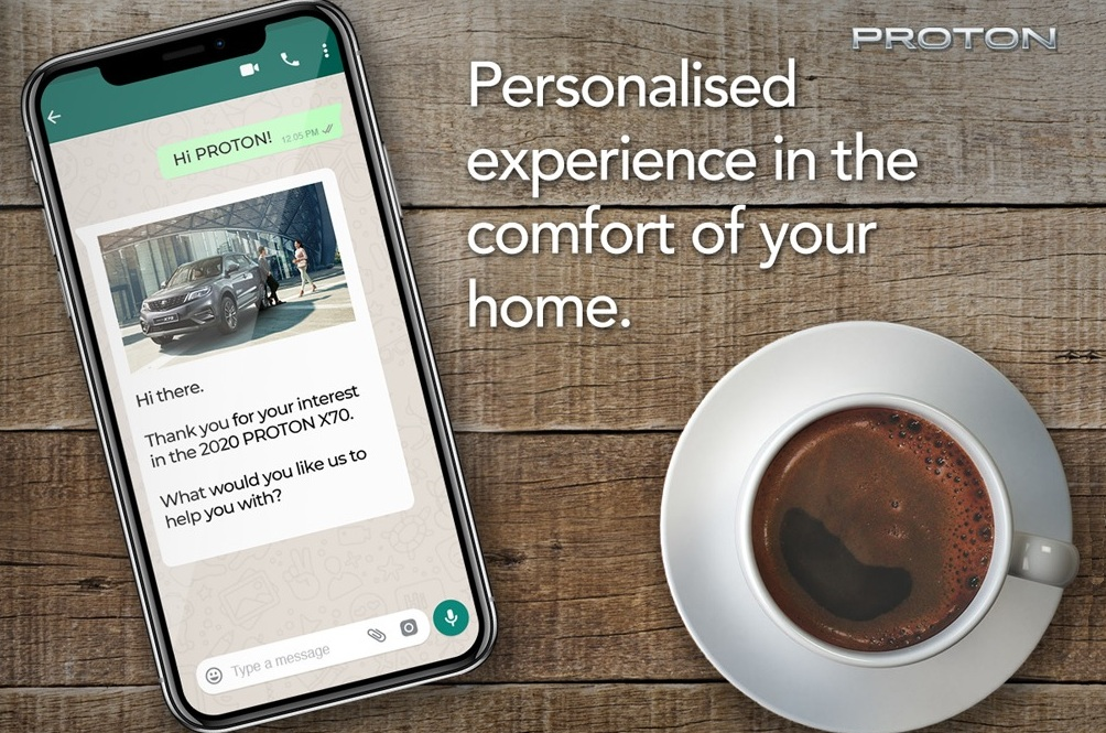 Drop Proton A WhatsApp To Catch Up With The 2020 X70