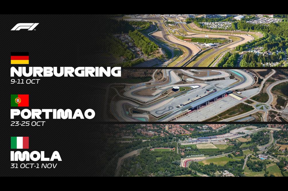 Nurburgring, Portimao And Imola Appears On Formula 1 Calendar