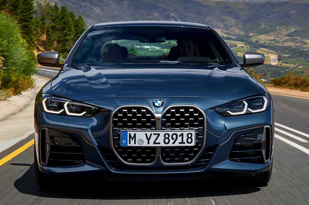 BMW's Attached A Really Sleek Coupe To A Couple Of Massive Grilles… Again